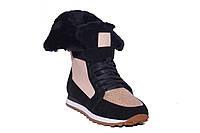 Высокие зимние женские кроссовки с шиммером brunello cucinelli
