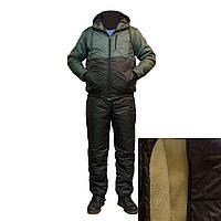 Мужской теплый спортивный костюм на овчине F1819H