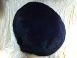 Женская  норковая шапка модель стюардесса украшение 2 полоски, фото 7