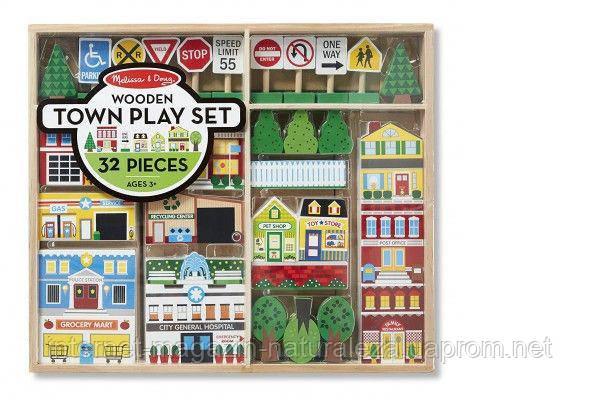 Деревянный набор Город Melissa&Doug