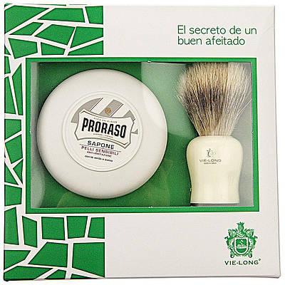 Подарочный набор (крем+намазок для бритья) Proraso Shaving Soap  & Vie-Long Brush