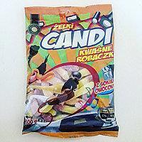 Желейные конфеты Zelki CANDI kwasny robaczki (кислые насекомые с фруктовым соком )  200г