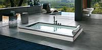 Ванна Jacuzzi Aura Uno Design встроенная без смесителя (отделка камень Piasentina Stone) 9450-114