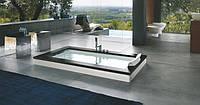 Ванна Jacuzzi Aura Uno Design встроенная без смесителя (отделка черный гранит) 9450-114