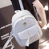 Городской женский рюкзак серый