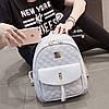 Городской женский рюкзак серый, фото 2