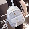 Городской женский рюкзак серый, фото 7