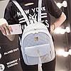 Городской женский рюкзак серый, фото 8
