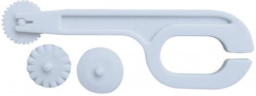 Ролик- нож пластиковый для моделирования мастики 3 вида строчки L 120 мм (шт)