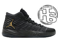Мужские кроссовки Air Jordan Melo M13 Black/Metallic Gold-Anthracite 881562-004