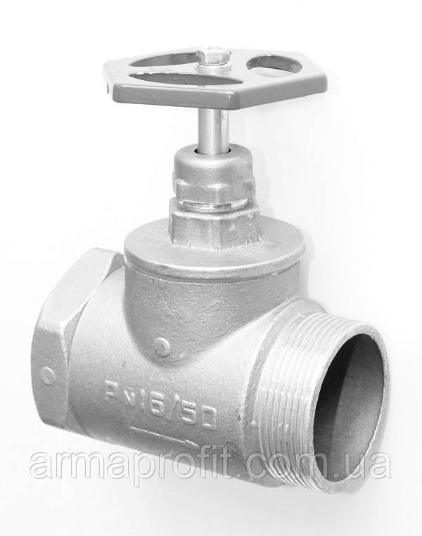 Вентиль запорный латунный для воды 15б3р  Ру1,6МПа резьба наружная-внутренняя
