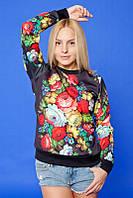 Кофта женская свитшот в украинском стиле р.42,44,46