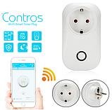 Дистанційна розумна Wi-Fi розетка Sonoff S20 c таймером Smart Socket EU, фото 5