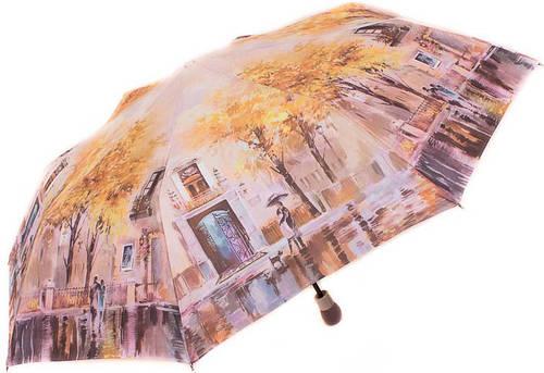 Красочный, яркий, женский зонт, полуавтомат ZEST Z23625-9 Антиветер!