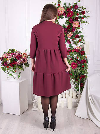 Стильное женское платье для полных свободное, фото 2