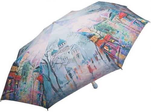 Оригинальный, яркий, женский зонт, полуавтомат ZEST Z23625-16 Антиветер!