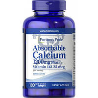 Puritan's Pride Absorbable Calcium 1200 mg with Vitamin D3 1000 IU кальций д3 минералы витамины