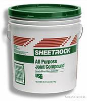 Шпаклевка готовая финишная SHEETROCK (ШИТРОК) 28 кг, США, в Днепре