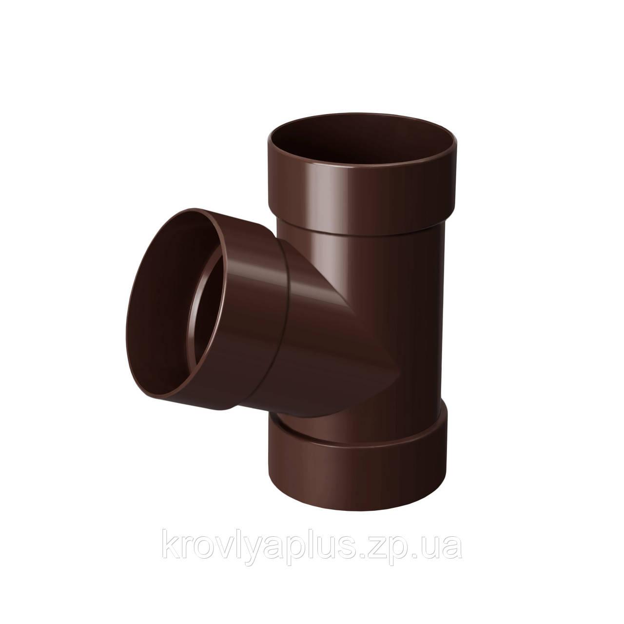 Тройник трубы 67° Ø100 (Rainway, Украина), коричневый.