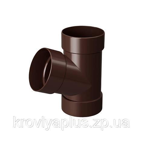Тройник трубы 67° Ø100 (Rainway, Украина), коричневый. , фото 2