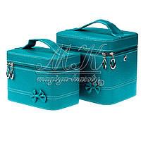 Кейс для косметики и украшений с бантиком 2 в 1, бирюзовая, фото 1