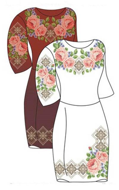 Заготовки для вышивки женских платьев