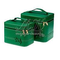 Кейс для косметики и украшений с бантиком 2 в 1, зеленый , фото 1