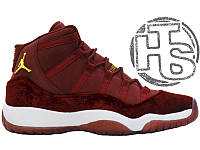 Женские кроссовки Air Jordan 11 XI Retro GG Heiress Velvet Night Maroon 852625-650