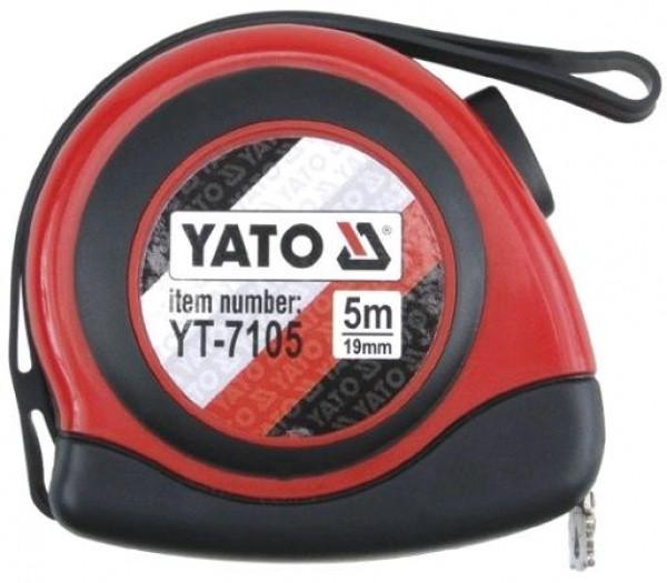 Рулетка строительная (измерительная) 19мм х 5м. с магнитом YATO YT-7105