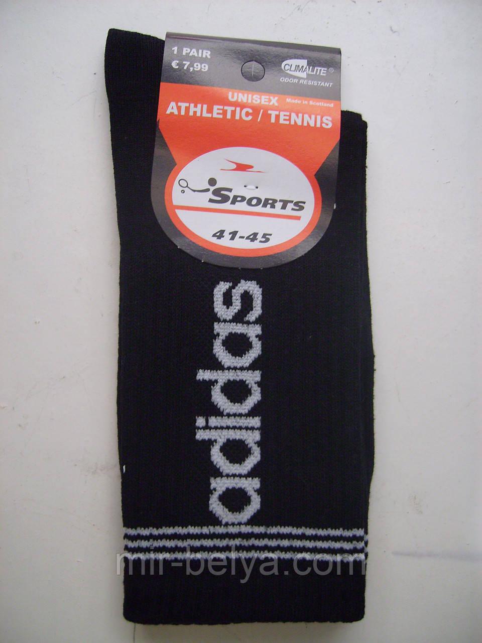 Мужские высокие носки ADIDAS спортивные черные