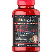 Puritan's Pride Maximum Strength Triple Omega 3-6-9 Fish, Flax & Borage Oils омега 3 омега 369 омега-3-6-9