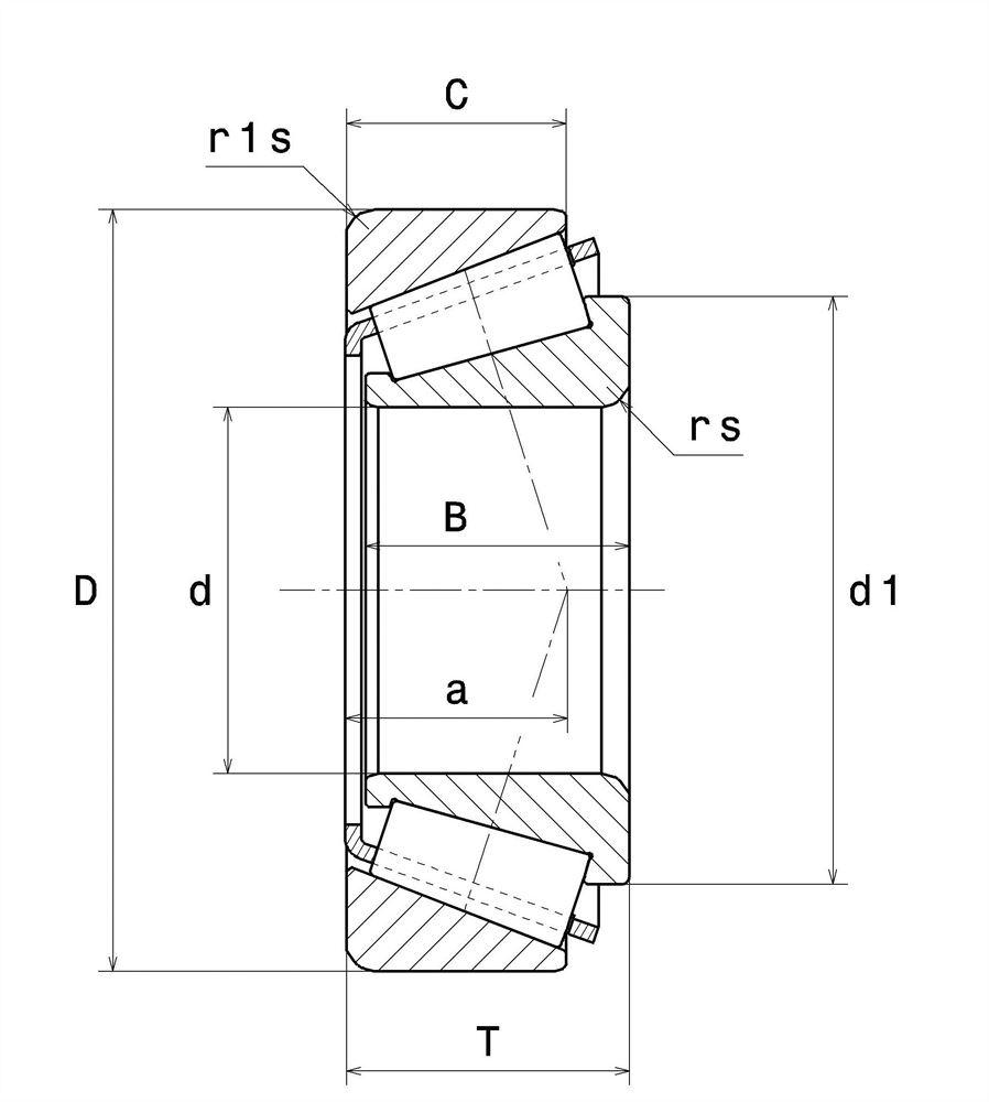 Подшипник 32311 BJ2/QCL7C SNR, 243704 Claas