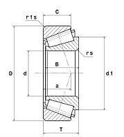 Подшипник 32311 BJ2/QCL7C SNR, 243704 Claas, фото 1