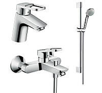 Logis Loop Набор смесителей для ванны, умывальник 70 (71150000+71244000+27728000)+полотенце