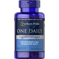 Puritan's Pride One Daily Men's Multivitamin витамины для мужчин повышение иммунитета