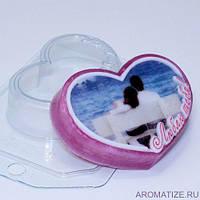 Пластиковая форма для мыла Люблю тебя!