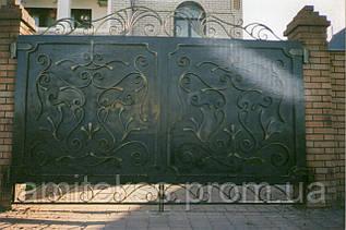 Кованые ворота (ковка, под заказ)