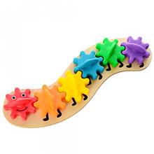 Деревянная игрушка Головоломка гусеница
