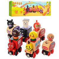 Деревянная игрушка Поезд на магнитах