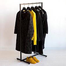 Стійка для одягу підлогова лофт Платон 1, фото 3
