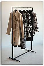 Стійка для одягу підлогова лофт Платон 1, фото 2