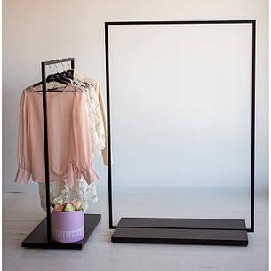 Стойка для одежды напольная лофт Платон 2, фото 2