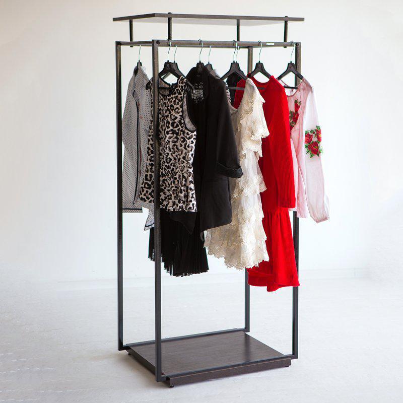 Стійка для одягу підлогова лофт Платон 5