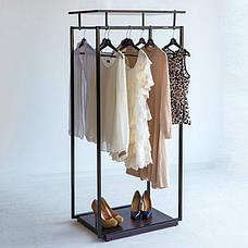 Стійка для одягу підлогова лофт Платон 5, фото 3