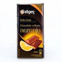 Шоколад молочный Elides Selecction с апельсином Испания 100г.