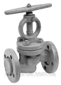 Клапан запорный стальной 15с18п фланцевый для амиака (Украина) Ду40 Ру25