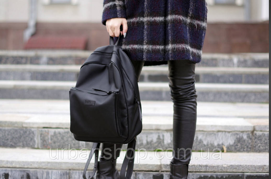 dac91f0a49fb Жіночий рюкзак harvest blackberry чорний Mono. Наплічник. Стильний. Для  міста. - UrbanShop