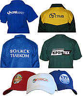 Пошив одежды для промо-акций, промо футболки, промо бейсболки, фартуки