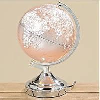 Глобус лампа нічник сірий полистоун 3149500