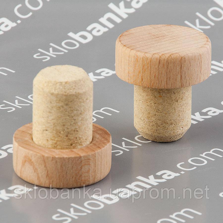 Т пробка 25,5 мм микроагломерат деревянная капсула